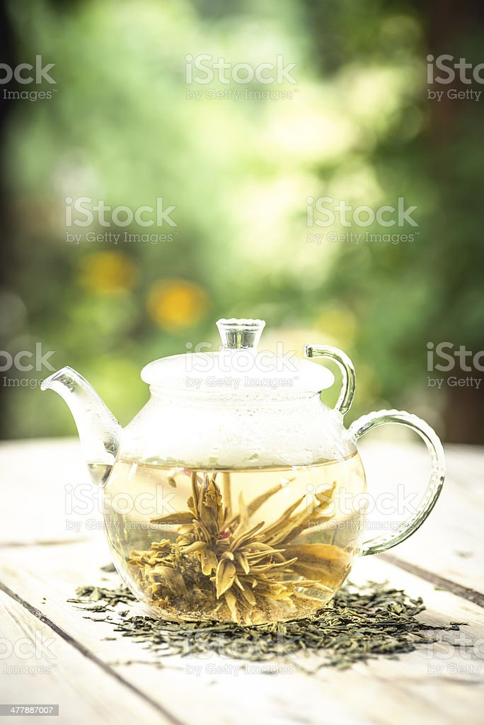 Teapot with chinese tea royalty-free stock photo