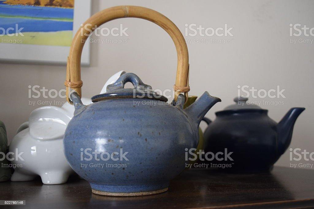 Teapots stock photo