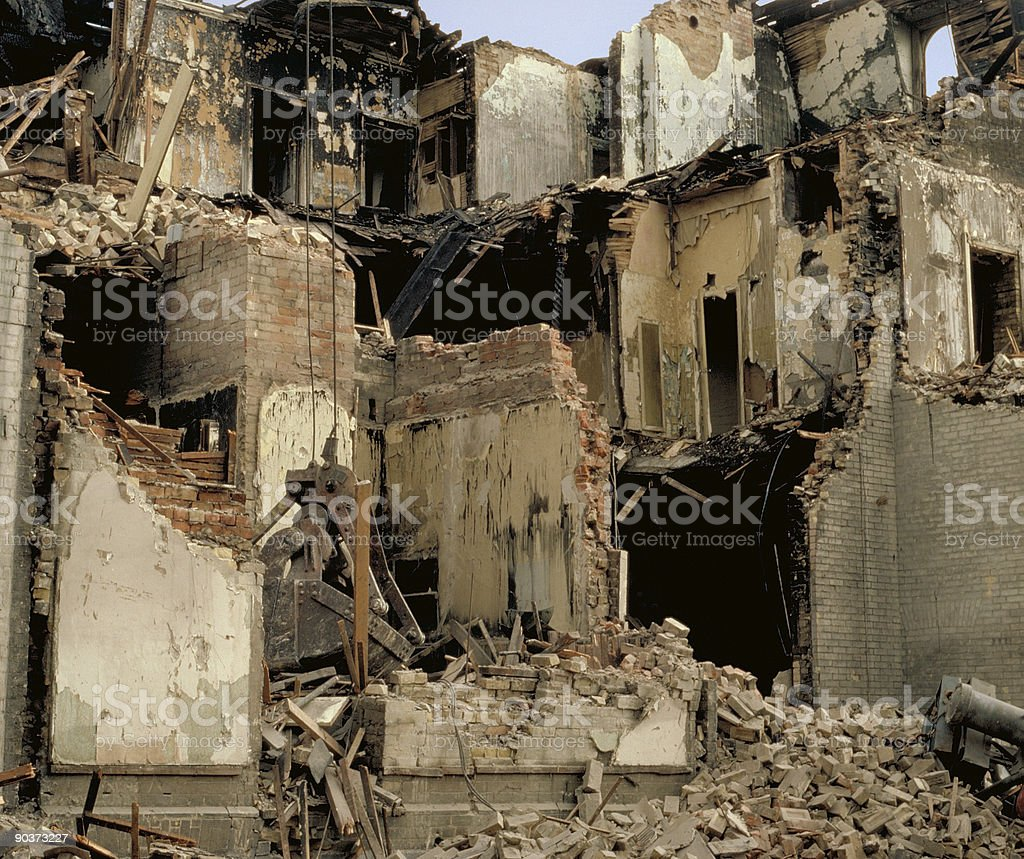 Tear Down royalty-free stock photo