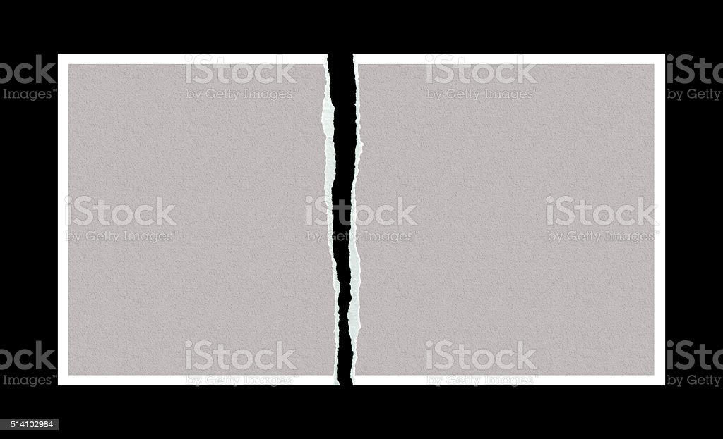 Tear the photo paper stock photo