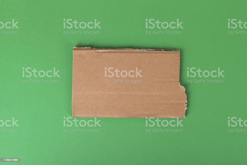 Teared Cardboard stock photo