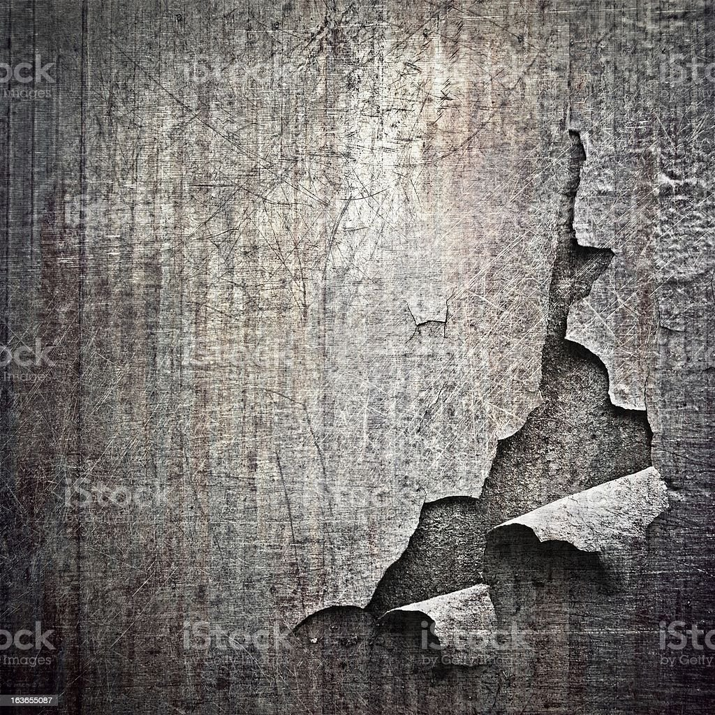 teared metal surface stock photo
