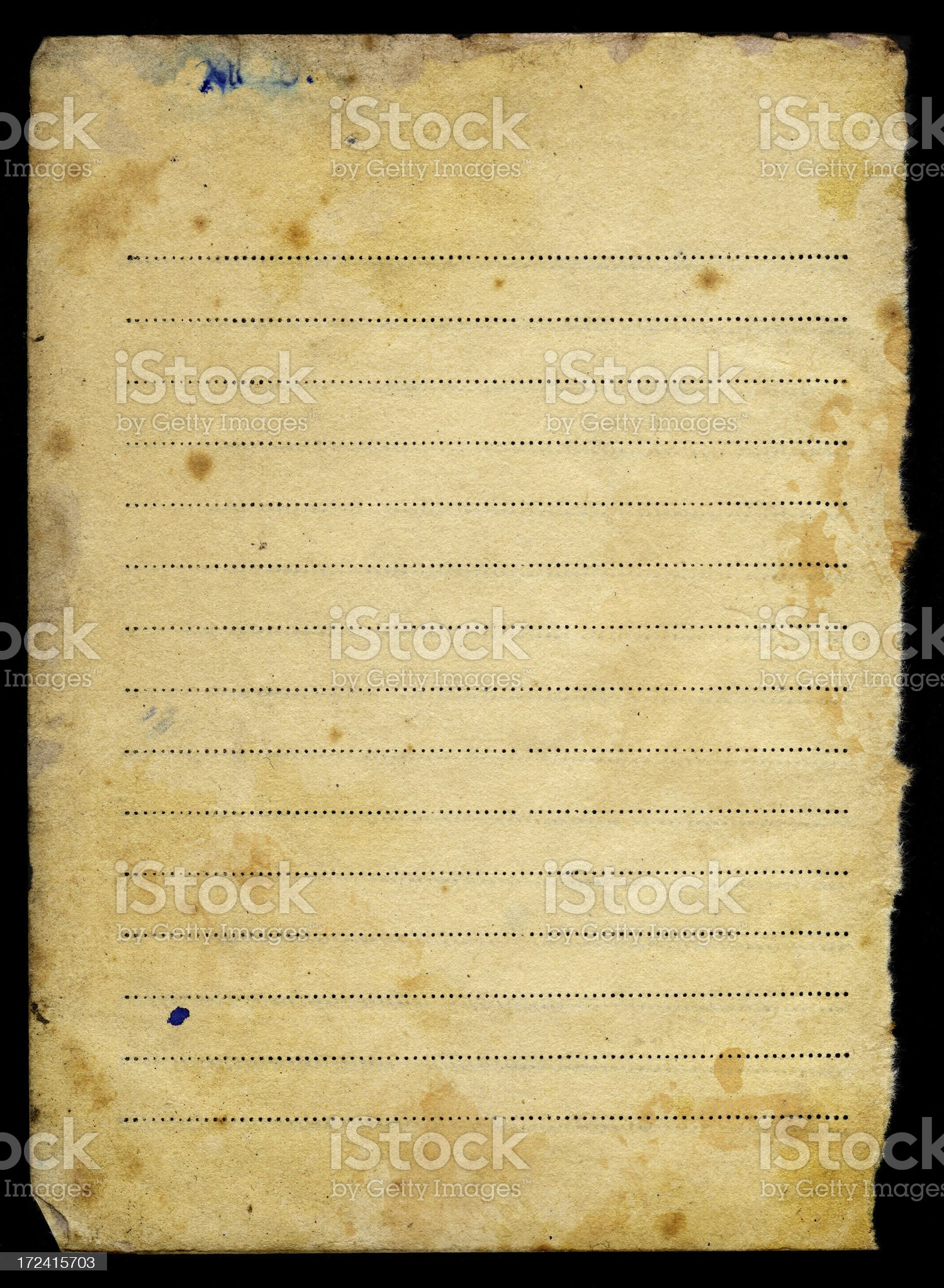 teared out blank notebook sheet royalty-free stock photo