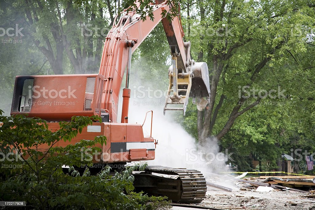 Tearing Down the House stock photo