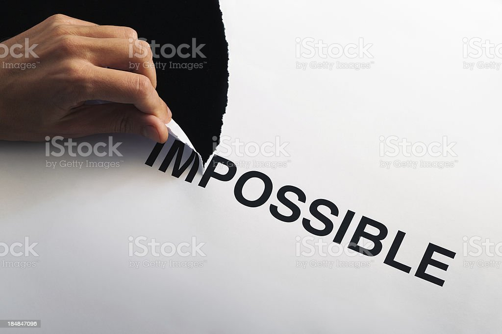 Tearing Impossible royalty-free stock photo