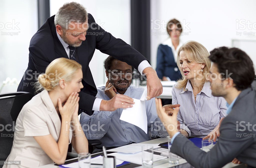 Tearing up the contract stock photo