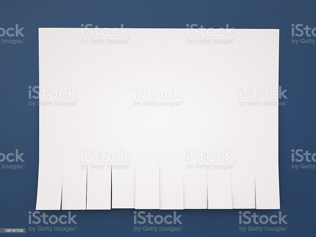 Tear-off announcement ad template royalty-free stock photo