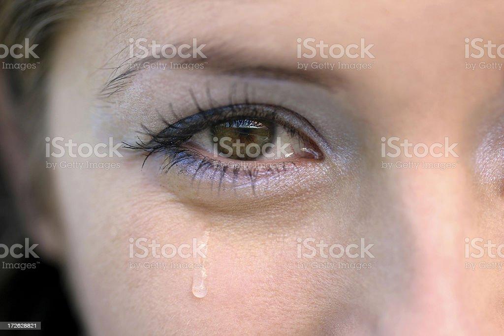 Tears of pleasure stock photo