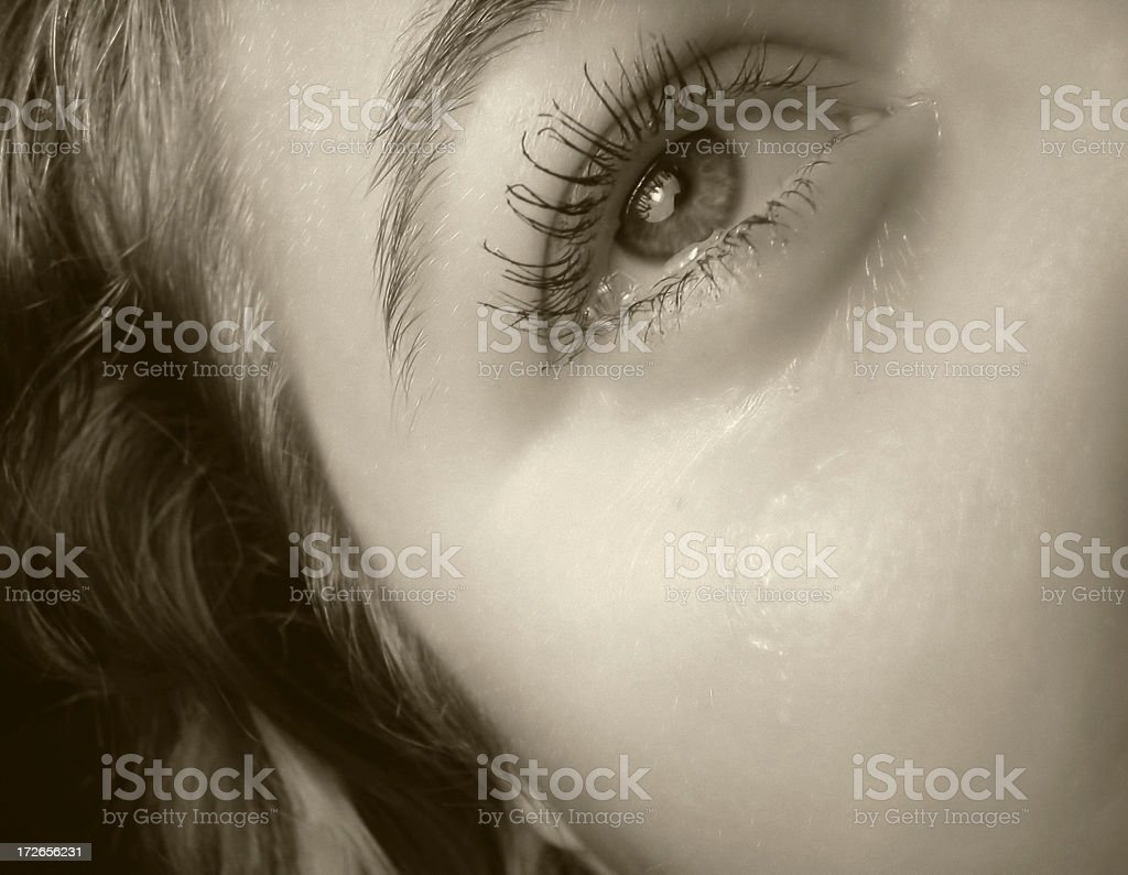 Tears (request) royalty-free stock photo