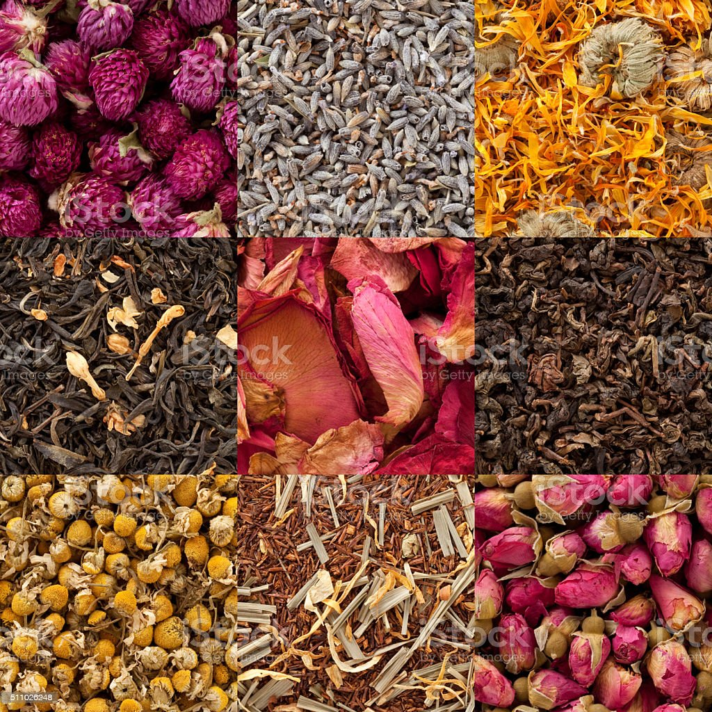 Teas composition stock photo