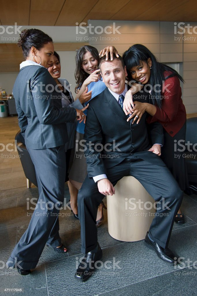 Teasing Our Young Boss royalty-free stock photo