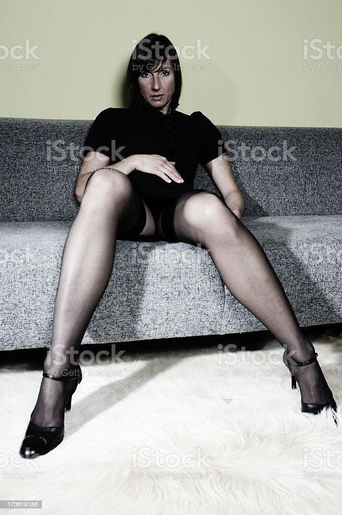 teasing woman royalty-free stock photo