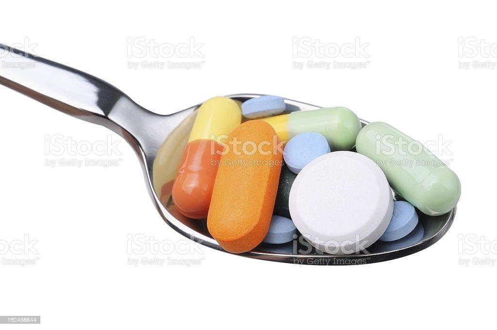 Teaspoon of Medicine royalty-free stock photo