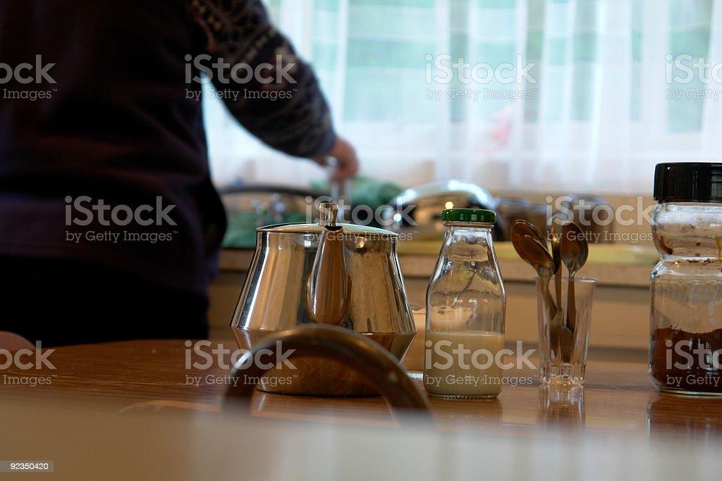 teatime at grandmas stock photo