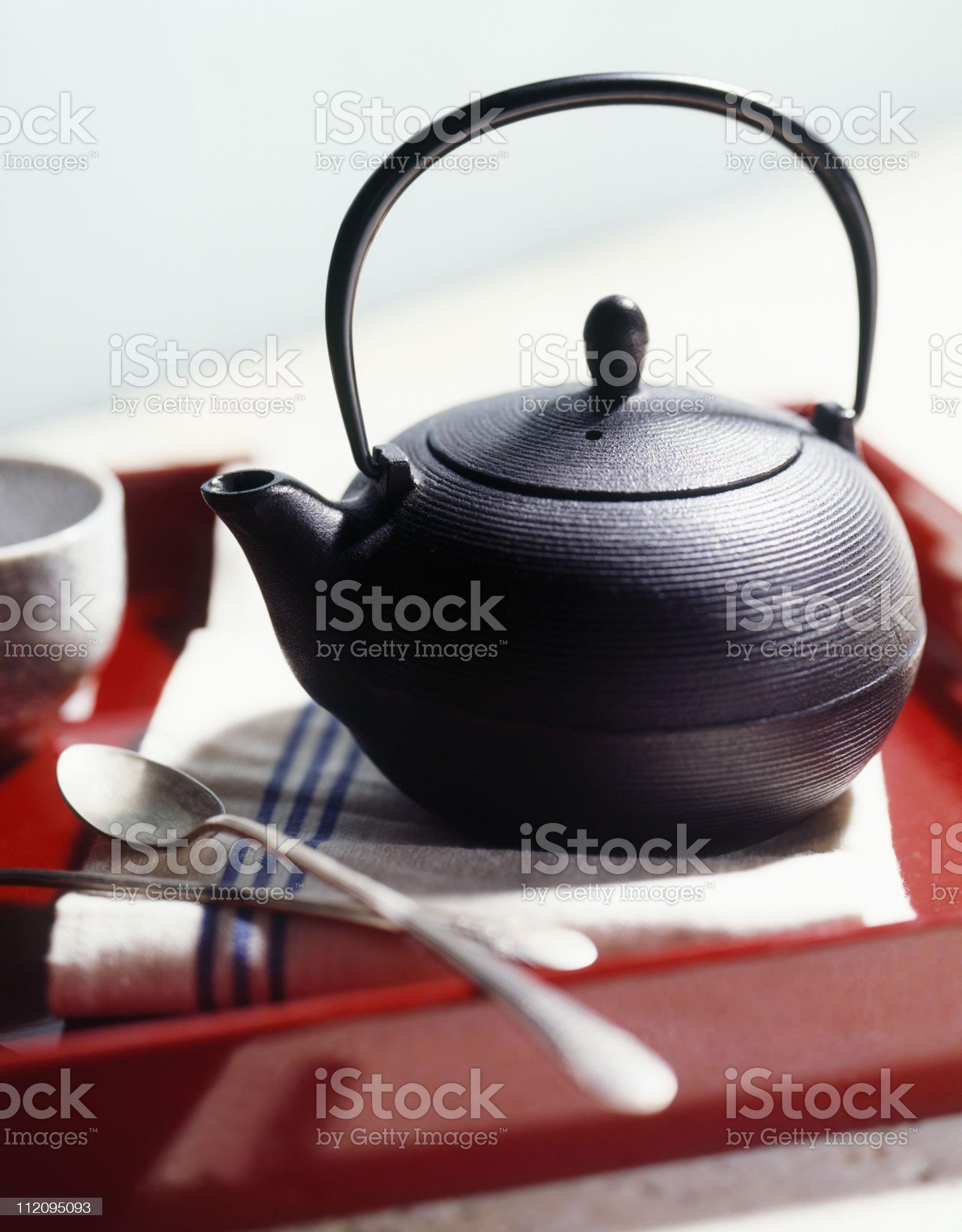 Teatime bokeh royalty-free stock photo