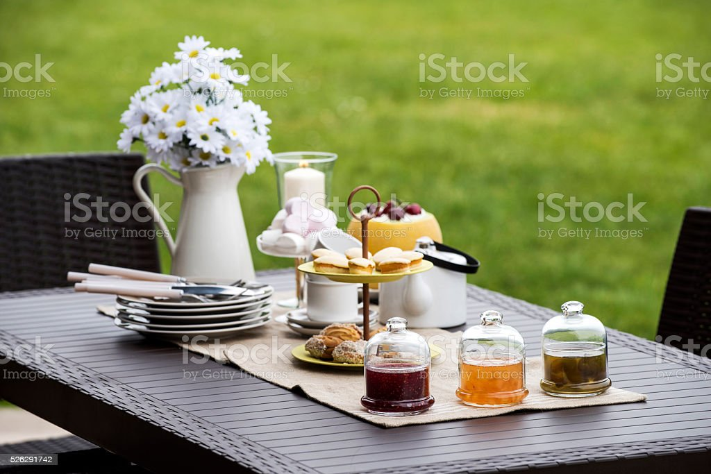 Tea-time stock photo
