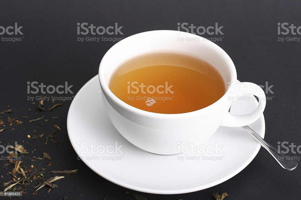Teatime with white Cup royalty-free stock photo