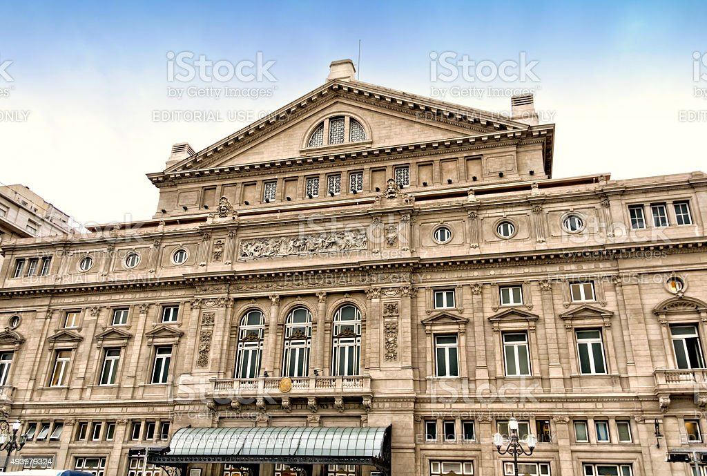 Teatro Colon, Buenos Aires, Argentina stock photo