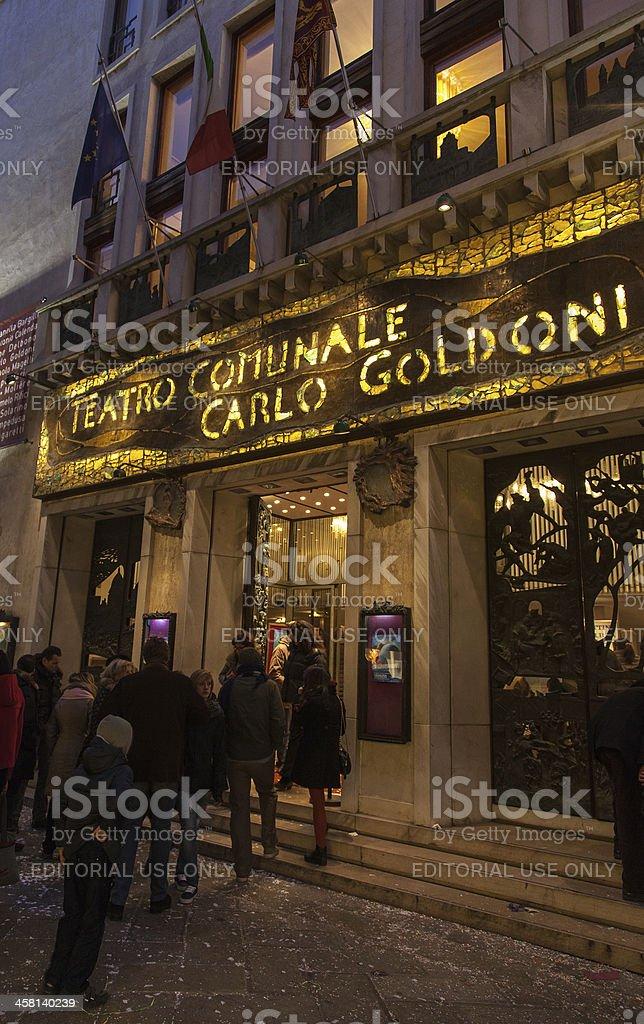 Teatro Comunale Carlo Goldoni royalty-free stock photo