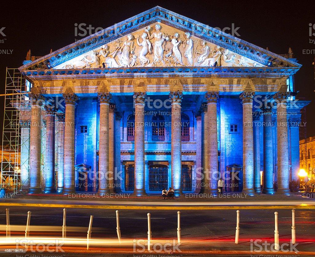 Teatro Degollado Guadalajara Mexico stock photo
