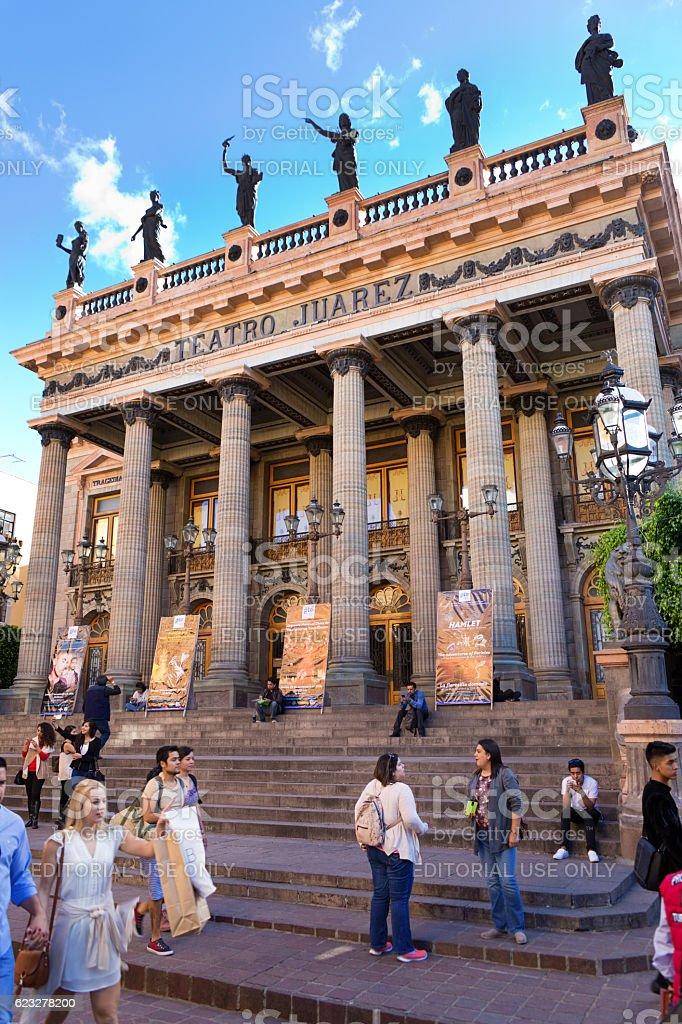 Teatro Juarez, the Grand Theater in Guanajuato, Mexico stock photo