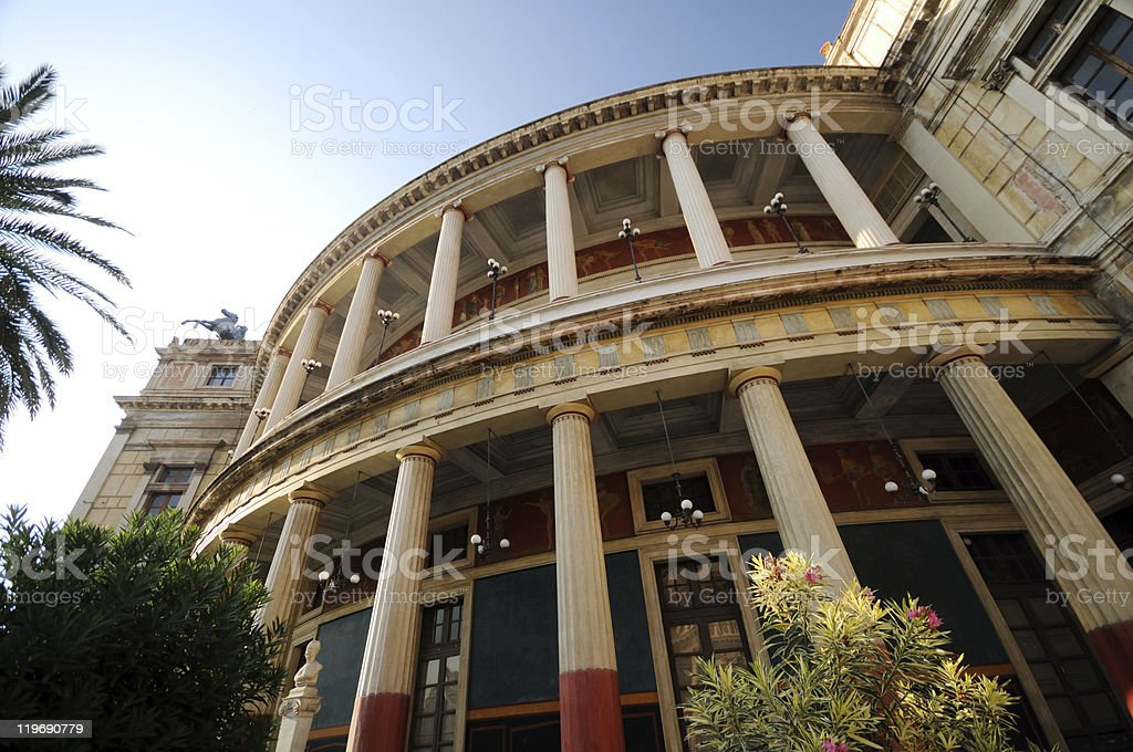 Teatro Politeama di Palermo stock photo