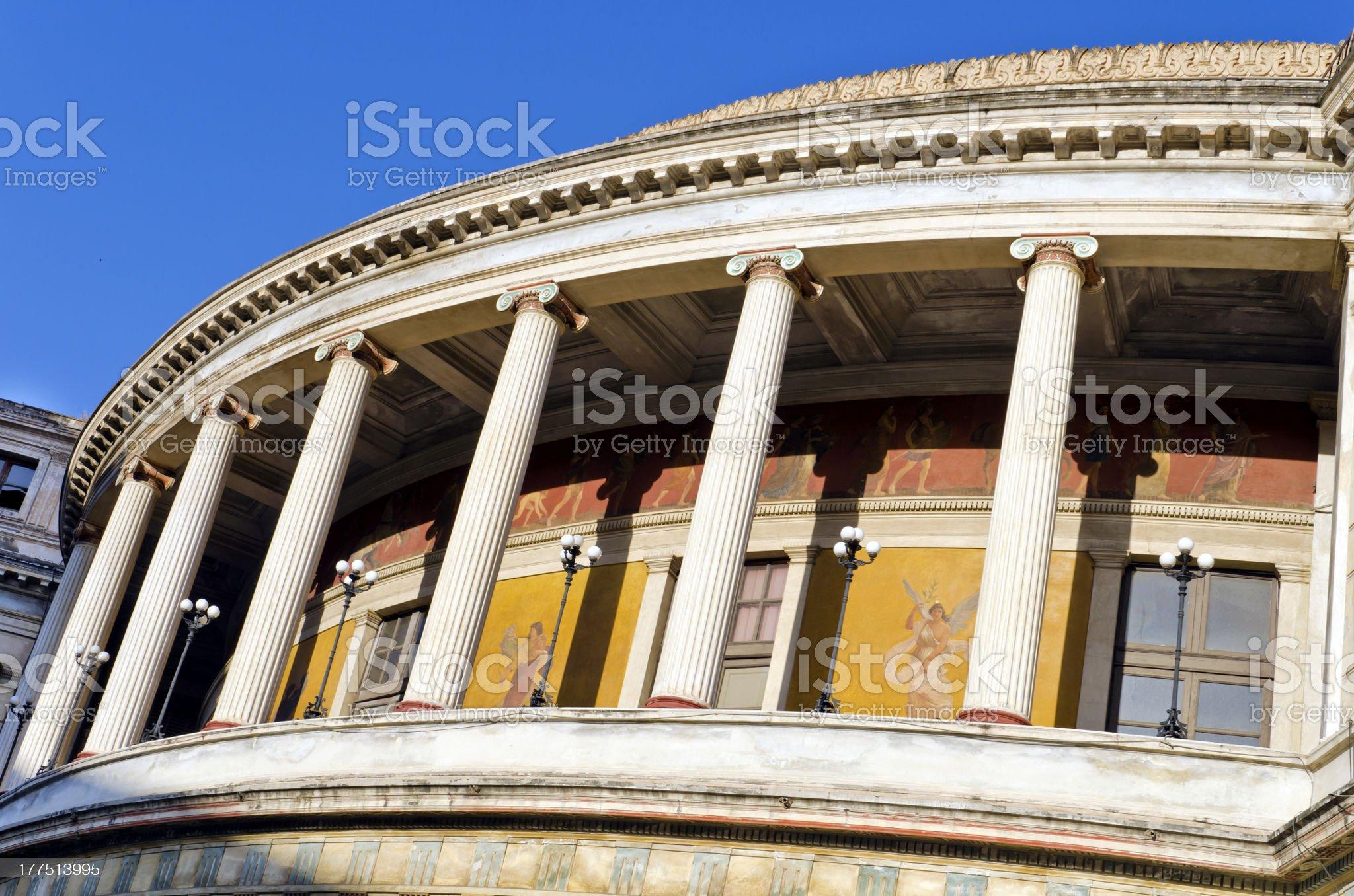 Teatro Politeama Garibaldi royalty-free stock photo
