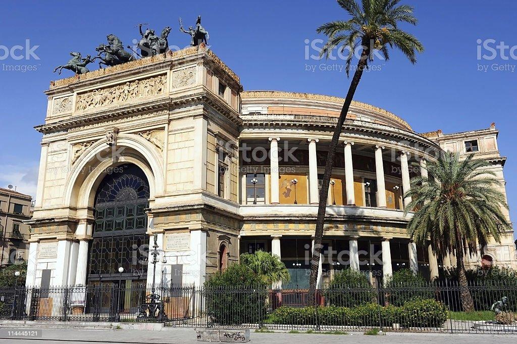 Teatro Politeama, Palermo royalty-free stock photo