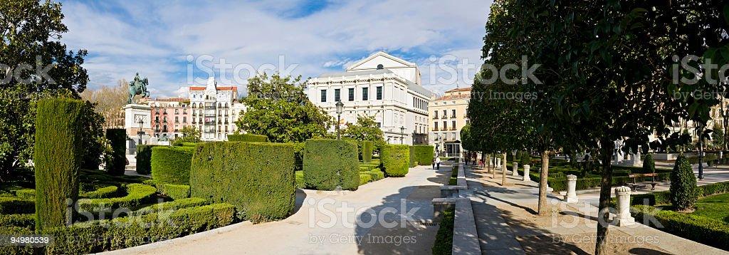Teatro Real Madrid royalty-free stock photo