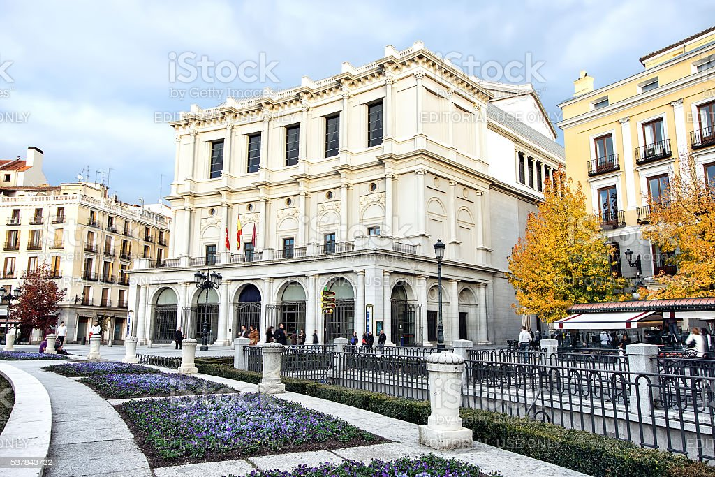 Teatro Real opera house in Madrid Spain stock photo