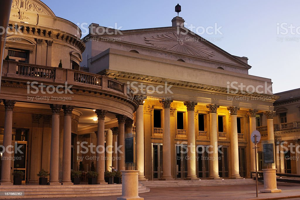 Teatro Solis opera house Theater Montevideo royalty-free stock photo