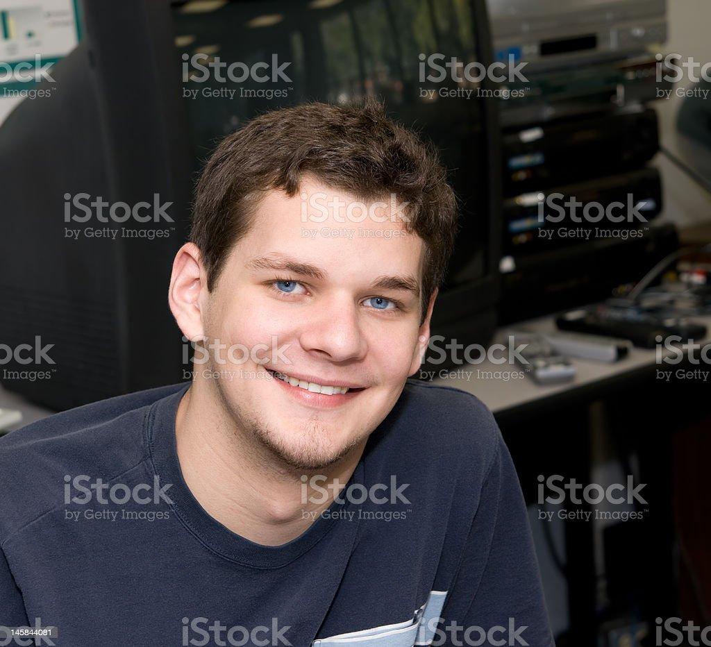 Tech Intern royalty-free stock photo