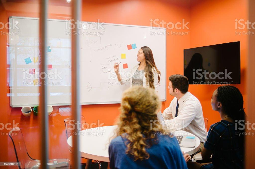 Tech Start-Up Meeting stock photo