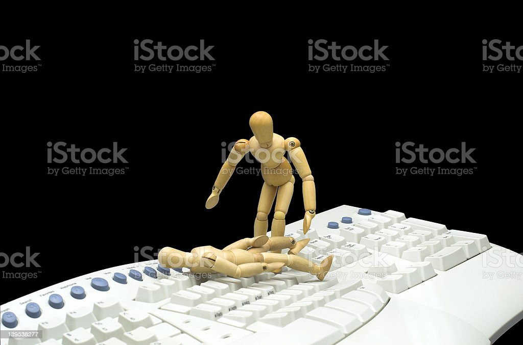 Tech Support Rescue stock photo