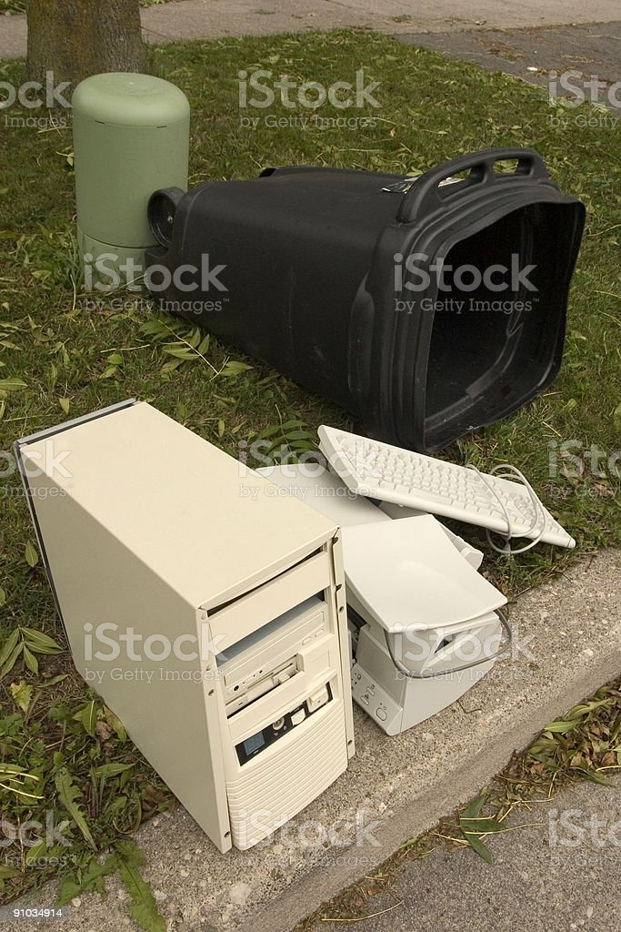 Tech  Waste royalty-free stock photo