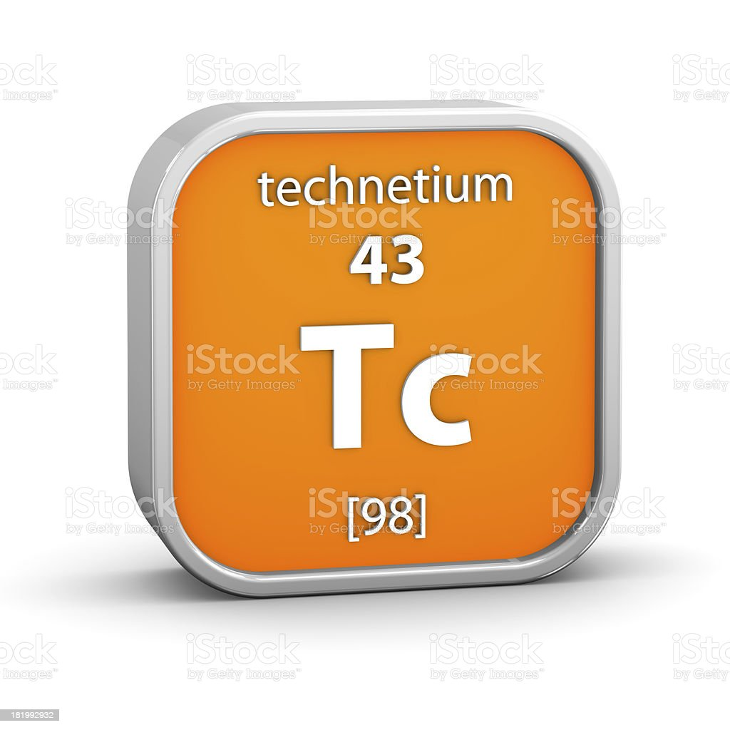 Technetium material sign stock photo