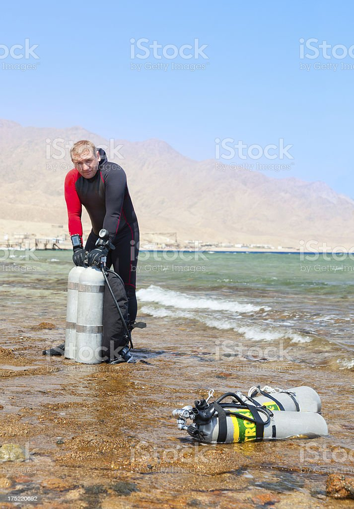 Technical Diver stock photo