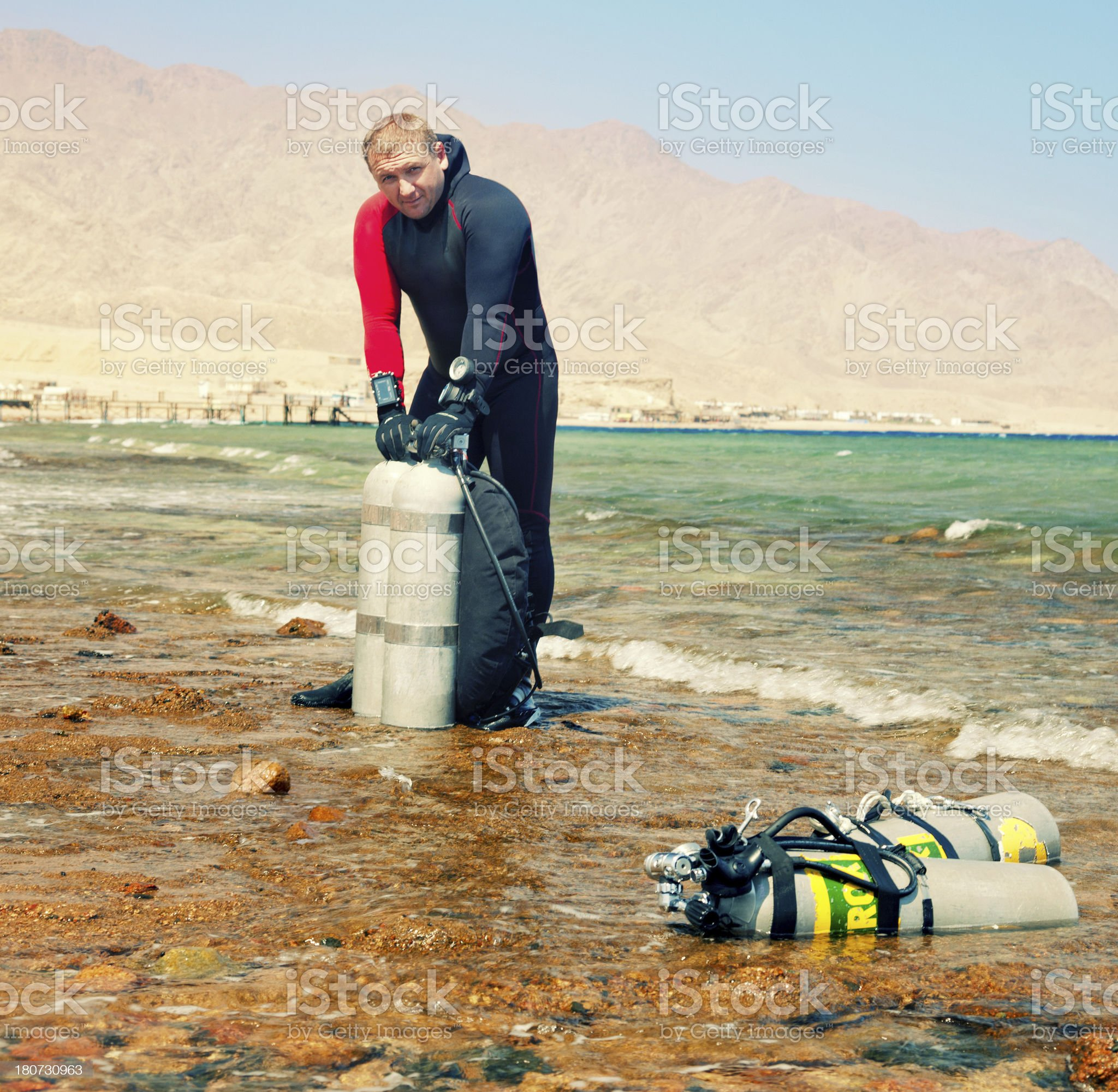 Technical Diver royalty-free stock photo