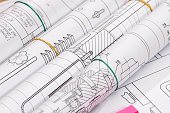 technical drawing detail and several drawing tools.