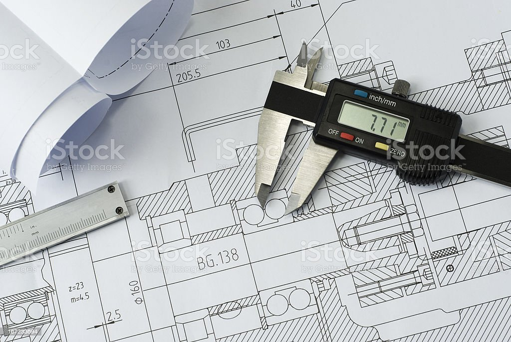 technical drawing royalty-free stock photo