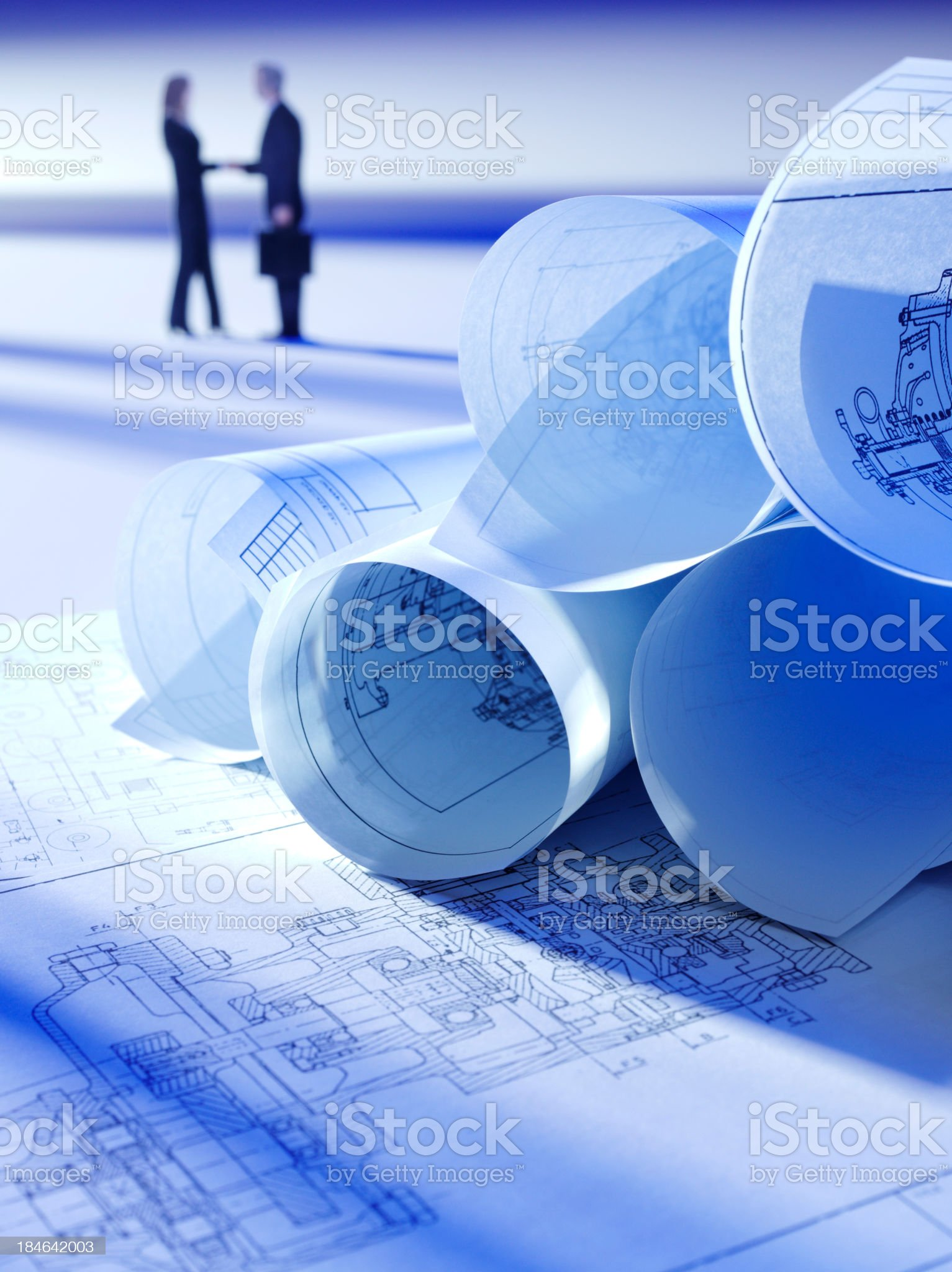 Technical Drawings in Business royalty-free stock photo
