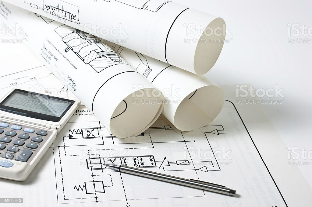 technical drawings royalty-free stock photo