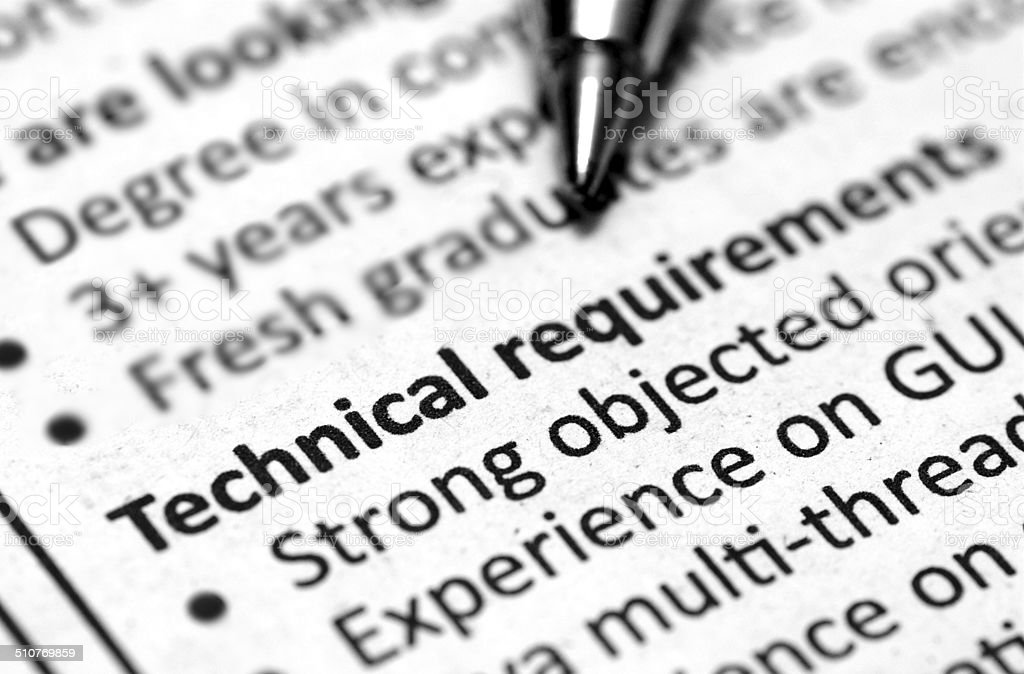 technical information stock photo