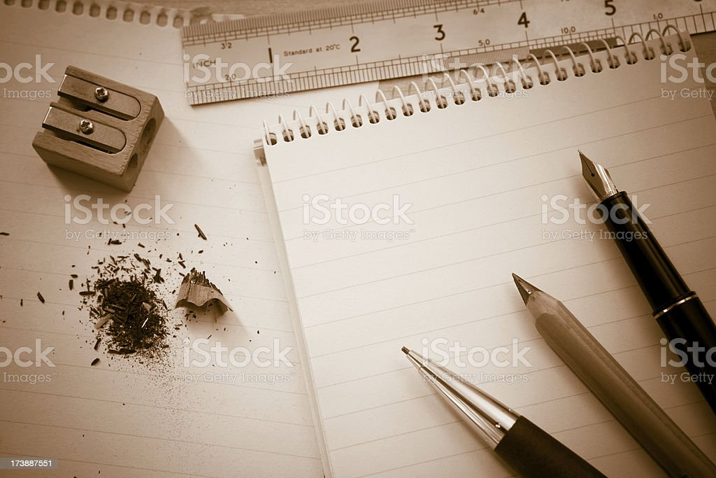 Technical notes royalty-free stock photo