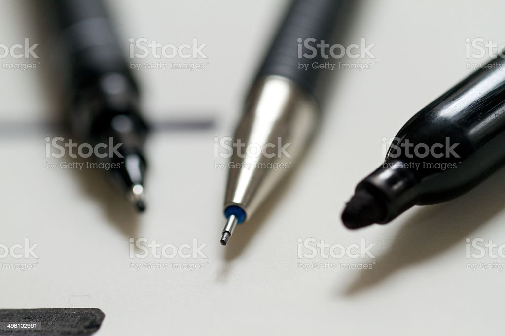 Technical pens royalty-free stock photo