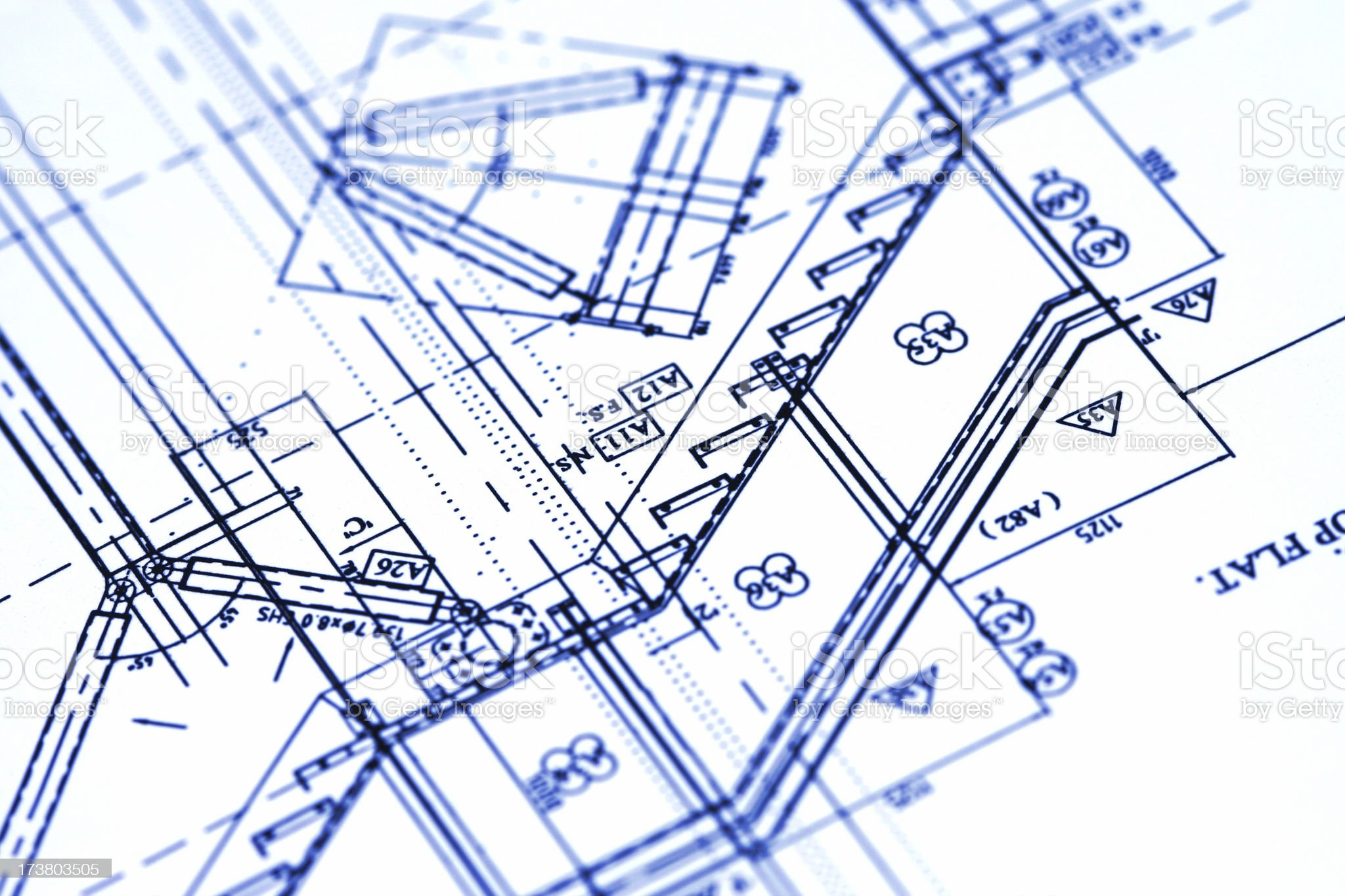 Technical plans 003 royalty-free stock photo