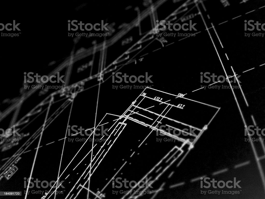 technical plans 2 royalty-free stock photo
