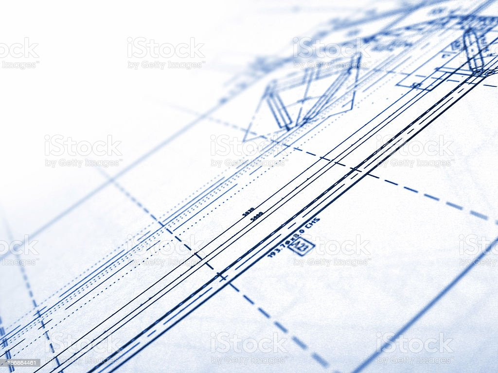 technical plans 3 royalty-free stock photo