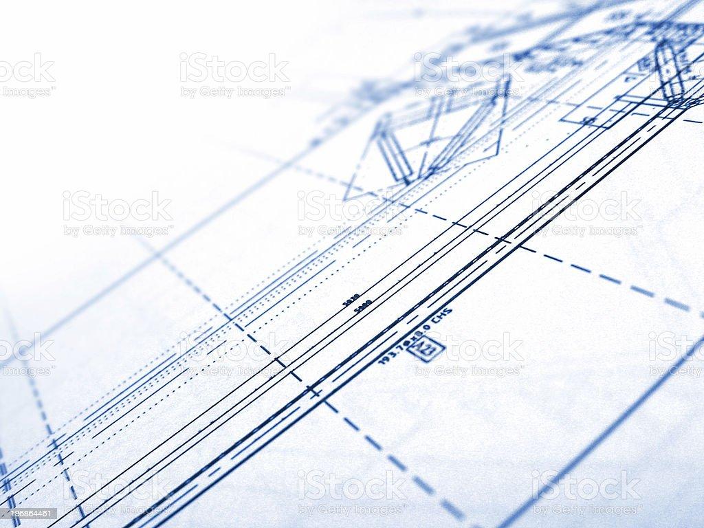 technical plans 3 stock photo