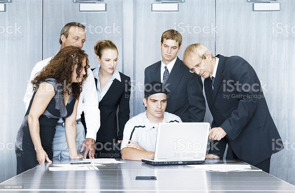 IT Technical Support Comes to the Rescue royalty-free stock photo